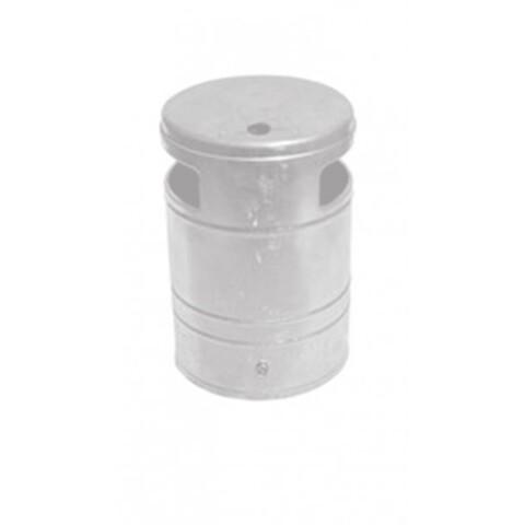 Affaldsbeholder med askebægre 40 l