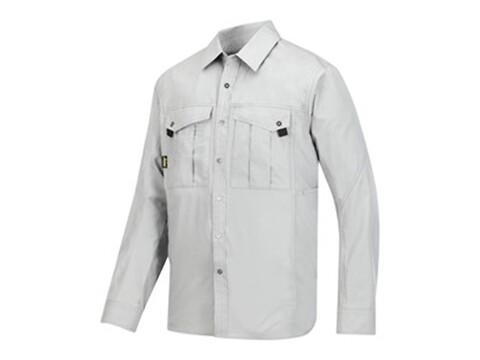 Skjorte rip-stop grå - str. s
