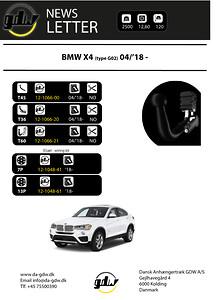 Dragkrok BMW X4 nyheter från Dansk Anhængertræk GDW verkliga och avtagbara