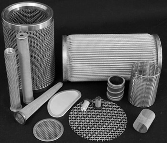 Filterelementer tilpasset opgaven. Koniske og cylindriske elementer. Tråd og væv i rustfri stål.