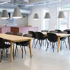Kontorindretning erhverv kontor indretning kantine kantineborde kantinestole