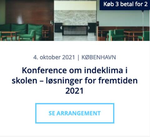 Konference om indeklima i skolen – løsninger for fremtiden 2021 - Konference om indeklima i skolen – løsninger for fremtiden 2021 - Nohrcon