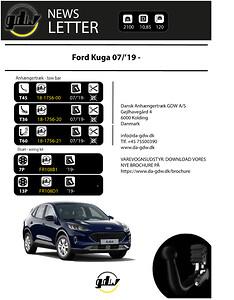 Ford Kuga Anhængertræk fra GDW T60, fast  og aftageligt anhængertræk