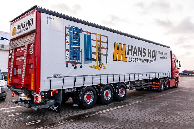 Kel-Berg 3 akslet maxi flexi gardintrailer  fra Lastas