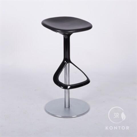 Walter Knoll Lox barstol, sort læder