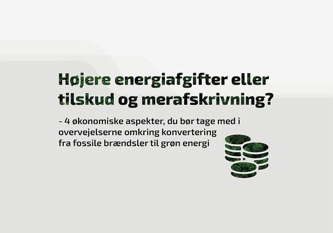 Konvertering fra fossile brændsler til grøn energi