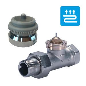 Med en VA72 adapter fra Pettinaroli har du mulighed for at montere Pettinaroli gulvvarme på en eksisterende Danfoss RAV/FJVR ventil