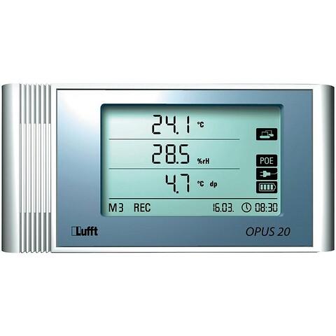 Opus 20 datalogger: Nøjagtig måling af luftfugtigheden - Dataloggeren kan måle luftfugtigheden samt temperaturen i et rum og findes i flere varianter.
