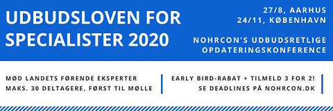 Udbudsloven for specialister 2020 - Udbudsloven for specialister 2020 - Nohrcon