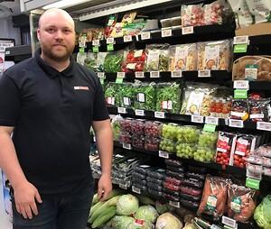 Min Købmand Godthåbsvej - Sigma hyldesystem i frugt- og grønt