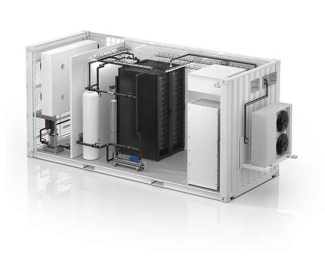 Schneider Electrics lancerer et alt-i-ét, væskekølet, modulært EcoStruxure™-datacenter.