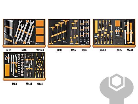Værktøjssæt 170 dele m/soft indlæg