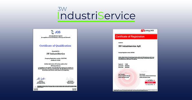 3W IndustriService Achilles JQS Utilities NCE 3WIS Prækvalifikation
