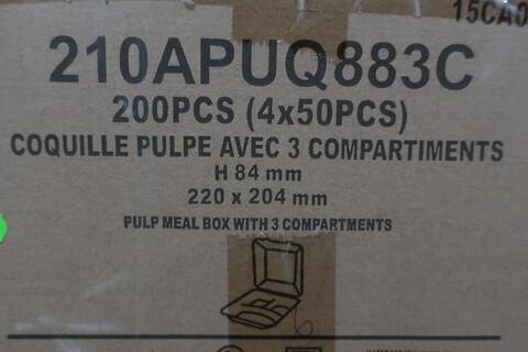 800 stk. 3-rums fiberbakke firstpack 210APUQ883C