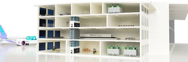 Billund Airport MultiHouse - EffiMat Storage Technology