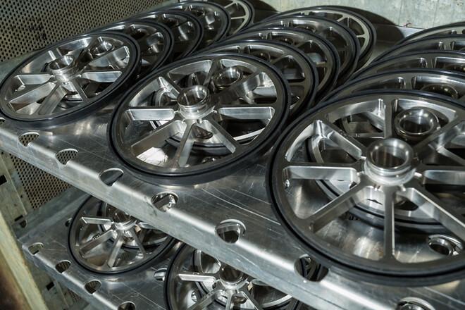 Rustfri stålhjul med EPDM-læbe