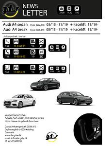 Audi A4 Dragkrok fron Dansk Anhængertræk GDW