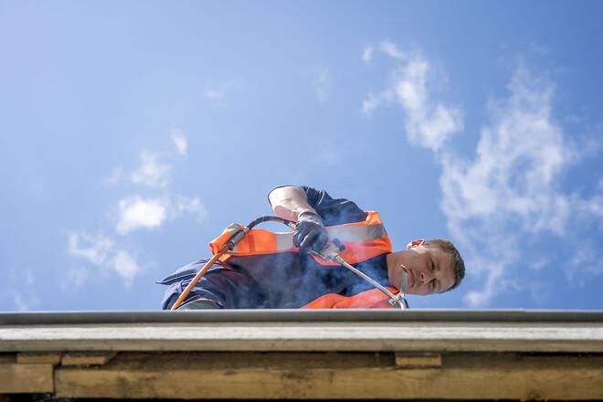 Siden foråret har Skou Gruppen arbejdet på renoveringen af 199 almene boliger i Albertslund Vest.