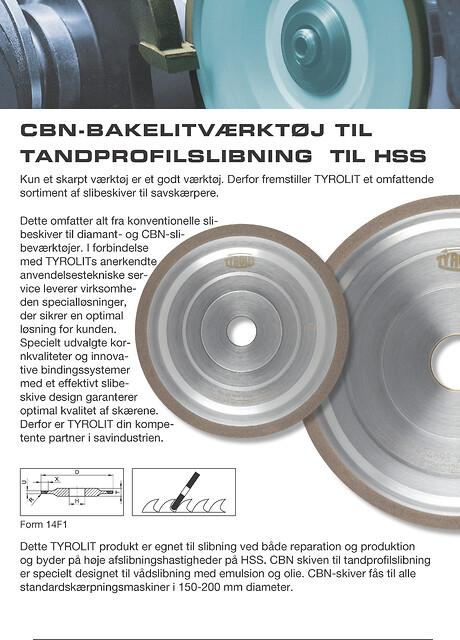 CBN bakelitværktøj til tandprofilslibning, til HSS