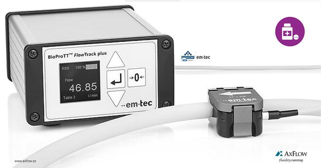 em-tec beröringsfria givare för medicinsk och bioprocessteknik