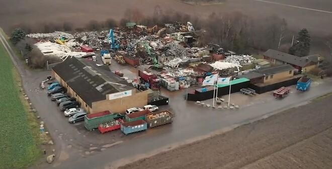 Luftfoto af Vestsjællands Jernhandel