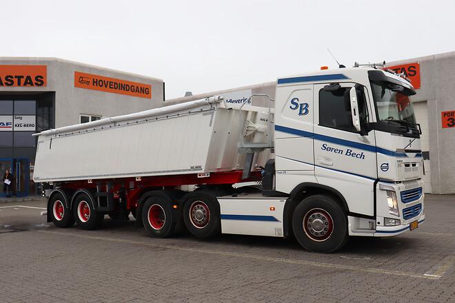 Ny Kel-Berg 2 akslet letvægts tiptrailer 22 m3  fra Lastas