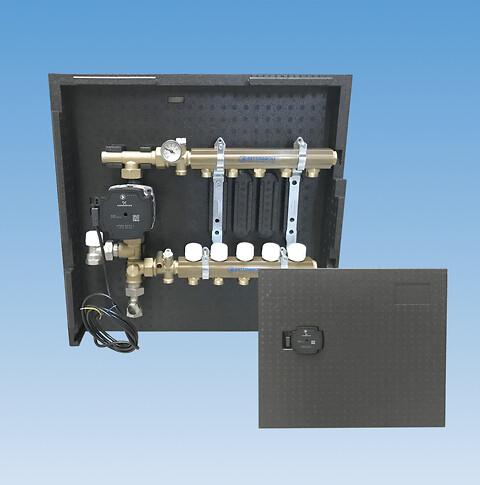 Pettinaroli isolering til gulvvarme- og brugsvandsfordelerrør samt kuglehaner - Pettinaroli tilbyder isolering til både gulvvarmefordelerrør, brugsvandsfordelerør og kuglehaner