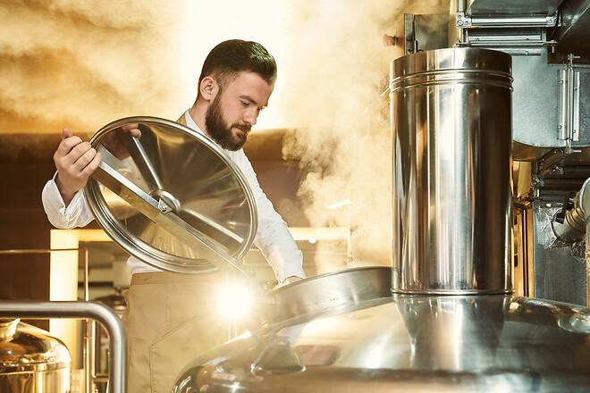Brug af damp på bryggerier