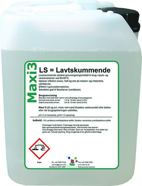Maxi 3 LS - lavtskummende rensevæske
