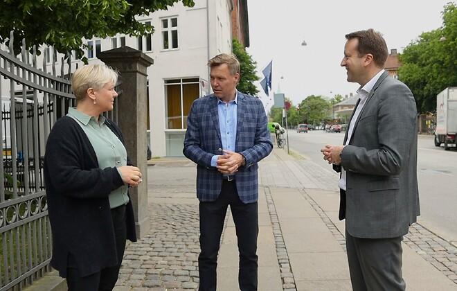 Lemvigh-Müllers ståleksperter Maria Steen (tv), Brian Alexis og Anders Voldsgaard Clausen (th)