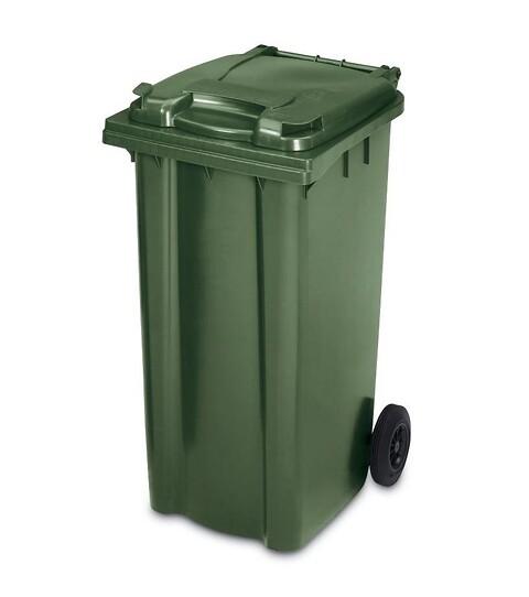 Affaldscontainer 2-hjulede 240 l - grøn