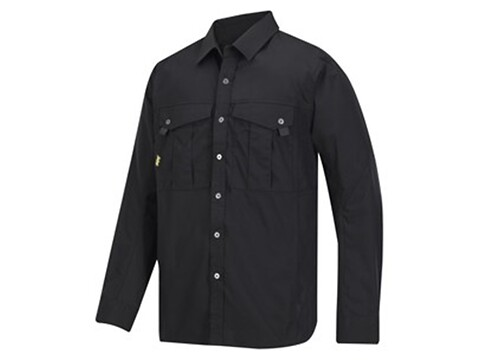Skjorte rip-stop sort - str. xxl