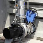 AVK spadeventil med håndhjul installeret på biopulp tank