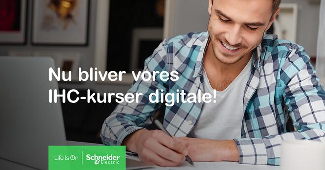 Schneider Electric lancerer IHC-kurser som e-læring, og erstatter dermed de fysiske kurser.