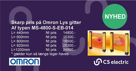 Skarp pris på Omron Lysgitter