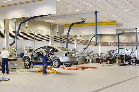 Komplette løsninger til bilværksteder