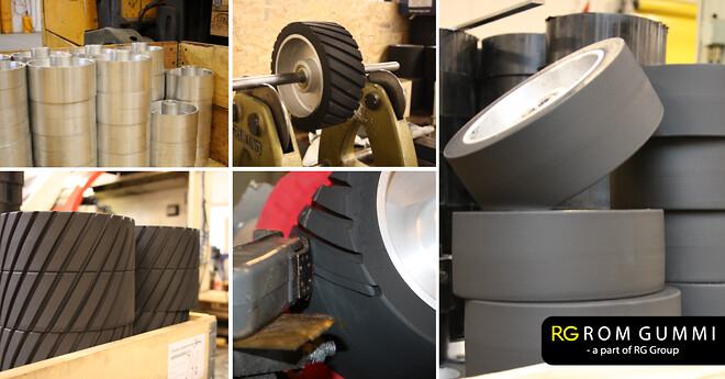 romgummi båndpudserhjul kontakthjul