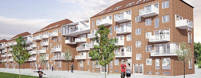 Renovering af 210 lejligheder i Aalborg Vestby