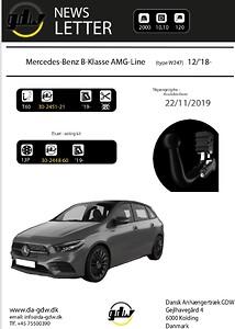 dragkrok för Mercedes B AMG det nye T60 system från GDW