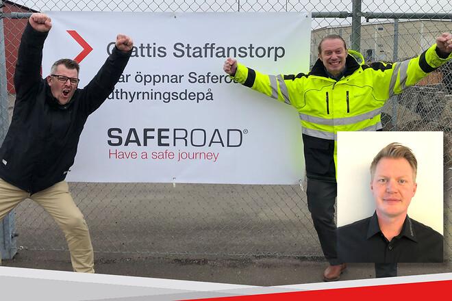 Saferoad; depå Malmö; säker trafikavstänging