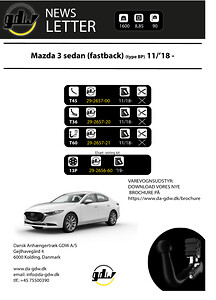 Mazda 3 sedan Dragkrok fron Dansk Anhængertræk GDW