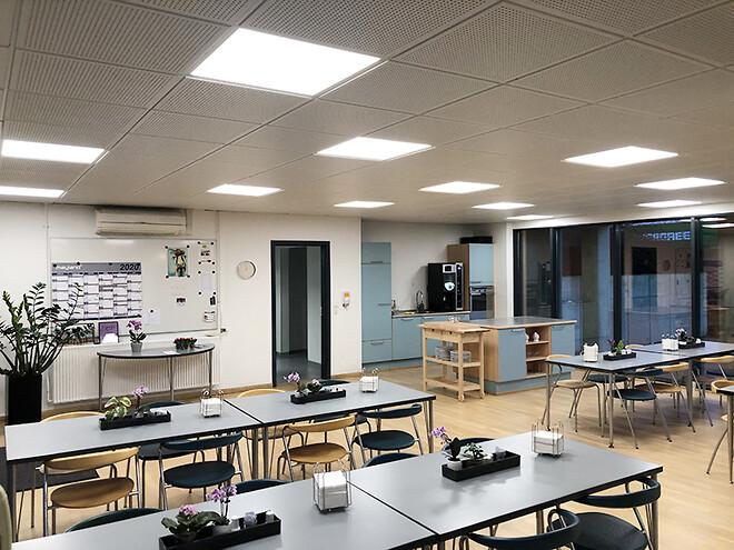 LED lyspaneler med farvestyring