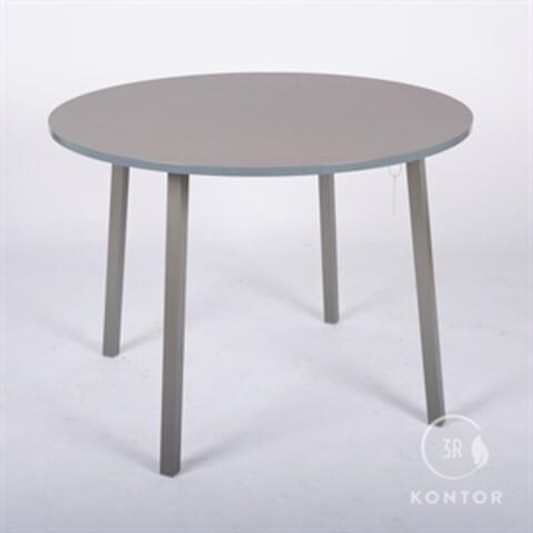 Kantinebord, rund, grå laminat. Ø100