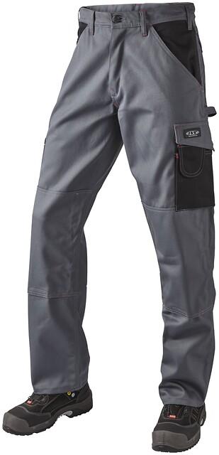 Arbejdsbukser 100% bomuld, grå/sort - 10206