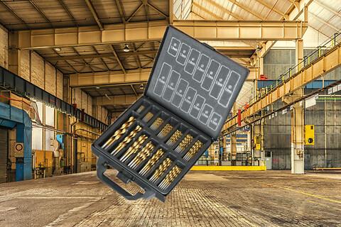 3 stk. metalbor sæt med 100 stk. bor i