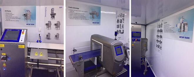 mettlertoledo produktinspektion checkvåg metaldetektor xray foodsafety demo mässa utställning inspektion