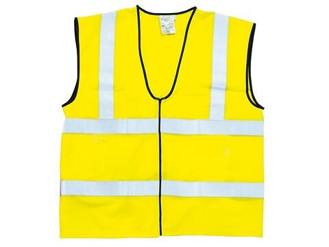 Sikkerhedsvest gul KL2 str. s