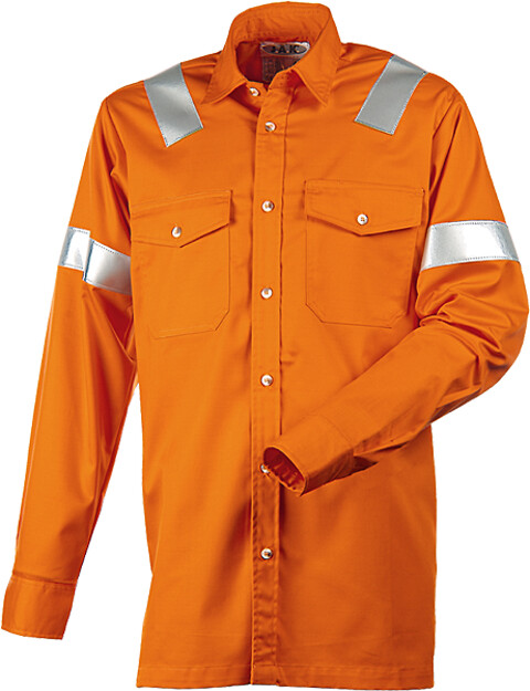 Arbejdsskjorte, antistatisk & antiflame, 12021 - orange