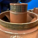 En større renovering af denne kedelkondensatpumpe, blev udført hos Thybotech ApS
