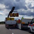 Trafikbuffert; säkerhet; säker vägarbetsplats; krockdäck; Saferoad